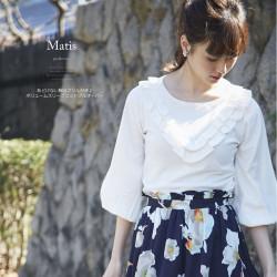 あどけない胸元フリル付き♪ボリュームスリーブニットプルオーバー 【matis マーティス】 2017 tocco closet Collection