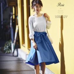 リュクスなアクセントに♪ビッグリボン付スカート4月21日(金)再販★【rosie ロジー】 tocco closet 2017 Beautyful Colorsカタログ  泉里香さんはブルーを着用