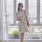 ほんのり袖透け水彩フラワープリントワンピース 【colias コリアス】 2017 tocco closet(トッコクローゼット) Collection
