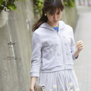 華やか化粧したフラワービジュー刺繍パーカー 【elley エリー】 2017 tocco closet(トッコクローゼット) Collection