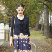 ベロアリボン付きカーディガン 【herton ハートン】 2016 tocco closet Collection