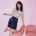 【女らしさ盛れるフリル付きビジューポケットスカート】 tocco closet 2017 Beautyful Colorsカタログ  泉里香さんはネイビーを着用