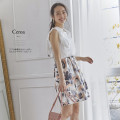 ラフな筆書きが大人っぽいウエストギャザースカート 【ceroa セロア】 2017 tocco closet(トッコクローゼット) Collection