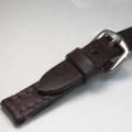 【馬具職人手縫!4mm厚のブライドルレザーにドイツ有名馬具メーカーの金具を装備!】SOMESバンド 18mm幅バーガンディー