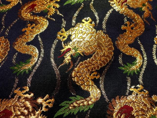 京西陣・金襴 生地 金龍 (和布 布和柄 和風 生地 よさこい 舞台 衣装)