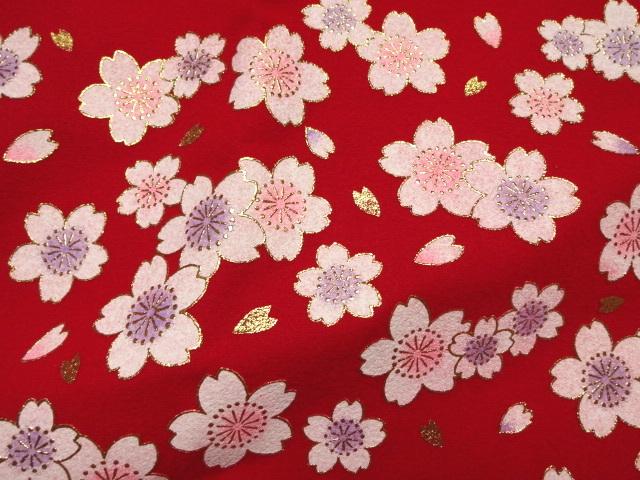 毛氈(もうせん)舞桜 (雛まつり 雛飾り 雛人形 お雛様 和布 生地)
