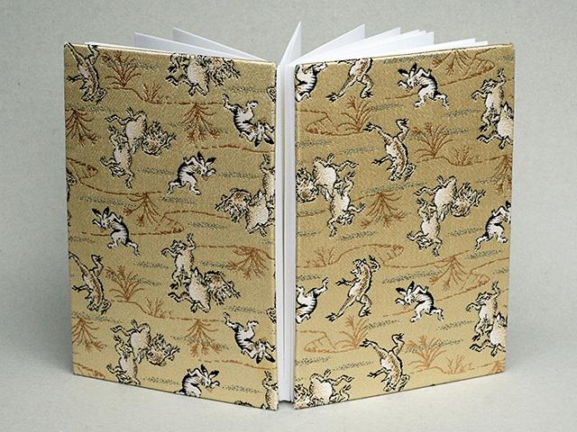 御朱印帳 金襴織物 鳥獣戯画