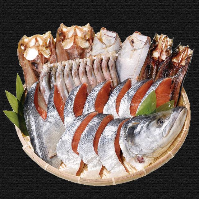 東光ストアオリジナル 干し魚と新巻鮭セット【075】