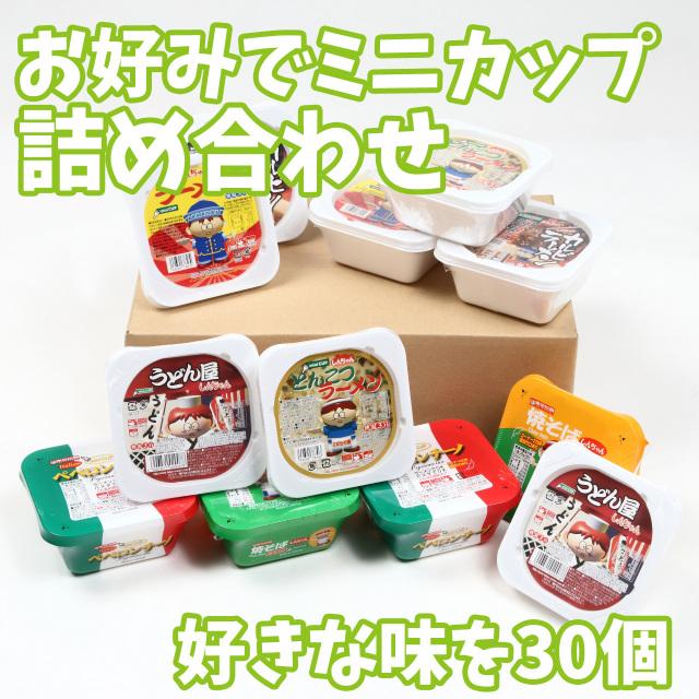 【東京拉麺】お好みでミニカップ詰め合わせ 30入 カップラーメン ミニラーメン