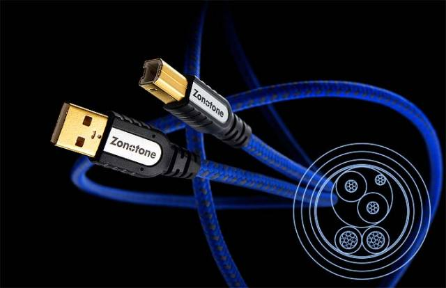 ZONOTONE PCオーディオUSBケーブル 6N USB-Grandio2.0/1.2(1.2m)