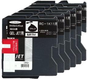 GELJETカートリッジ ブラック RC-1K11 リサイクル <6個入>