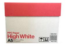 A5 コピー用紙・プリンタ用紙 / ハイホワイト (PPC Paper High White) 5,000枚