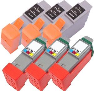 インクタンク BCI-24(BK:3、CLR:3) リサイクル<各3個入>