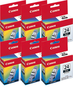 Canon インクタンク BCI-24BK ブラック 純正<6個入>