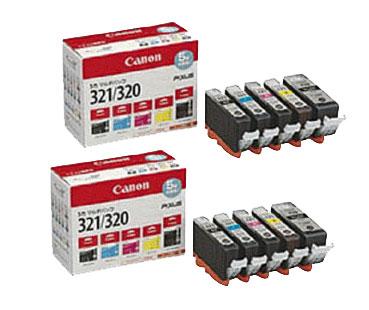 Canon インクタンク BCI-321 (BK/C/M/Y)+BCI-320PGBK マルチパック 純正<2パック>