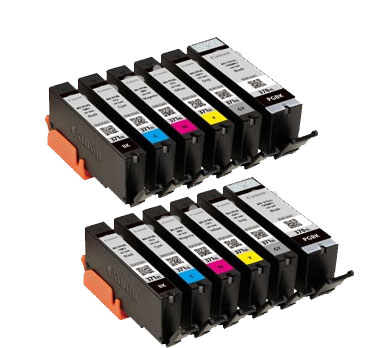 インクタンク BCI-371XL (BK/C/M/Y/GY) + BCI-370XL マルチパック(大容量) 汎用品(新品・ノーブランド)<2パック入>