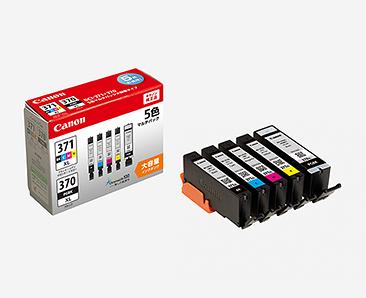Canon インクタンク BCI-371XL (BK/C/M/Y) + BCI-370XL マルチパック(大容量)純正