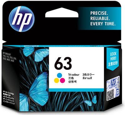 HP 63 インクカートリッジ カラー (F6U61AA) 純正