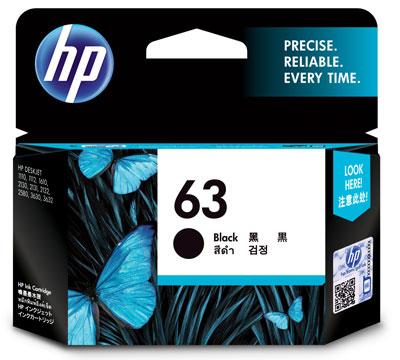HP 63 インクカートリッジ 黒 (F6U62AA) 純正