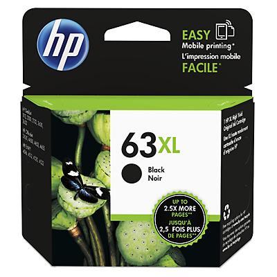 HP 63XL インクカートリッジ 黒 増量 (F6U64AA) 純正