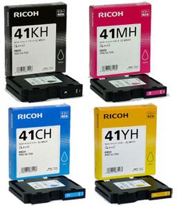 RICOH SGカートリッジ GC41(K、C、M、Y) 純正<4色入>