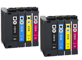 インクカートリッジ IC4CL78 汎用品(新品・ノーブランド)<4色入×2パック>