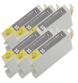 インクカートリッジ ICBK33 フォトブラック 汎用品(新品・ノーブランド) <6個入>