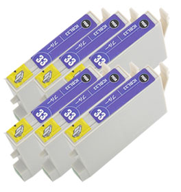 インクカートリッジ ICBL33 ブルー 汎用品(新品・ノーブランド) <6個入>