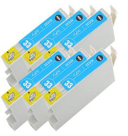 インクカートリッジ ICC33 シアン 汎用品(新品・ノーブランド) <6個入>