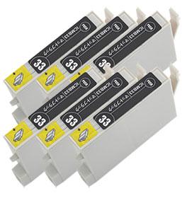 インクカートリッジ ICMB33 マットブラック 汎用品(新品・ノーブランド) <6個入>