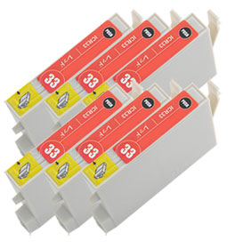 インクカートリッジ ICR33 レッド 汎用品(新品・ノーブランド) <6個入>