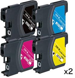 インクカートリッジ お徳用4色パック LC11-4PK 汎用品(新品・ノーブランド)<2パック入>