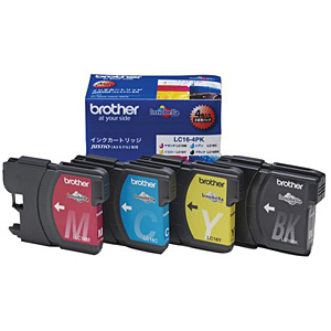 brother インクカートリッジ LC16-4PK (大容量) 純正<4色入>