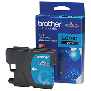 brother インクカートリッジ LC16C (シアン大容量) 純正