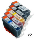 インクタンク BCI-321 (BK/C/M/Y)+BCI-320 マルチパック 汎用品(新品・ノーブランド)<2パック>