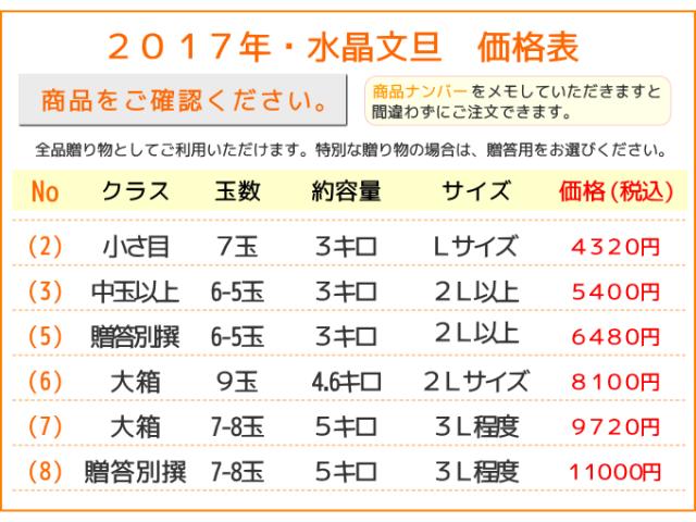 水晶文旦価格表2017