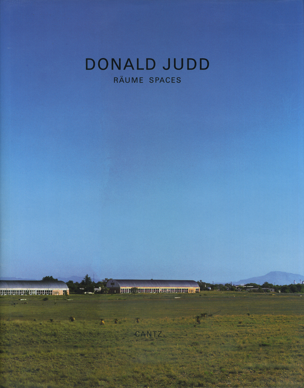 DONALD JUDD: RAUME SPACE