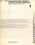 Typografische Monatsblatter 1974ǯ 8��å�