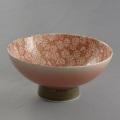 肥前花の舞茶碗 赤小菊(ピンク吹き)