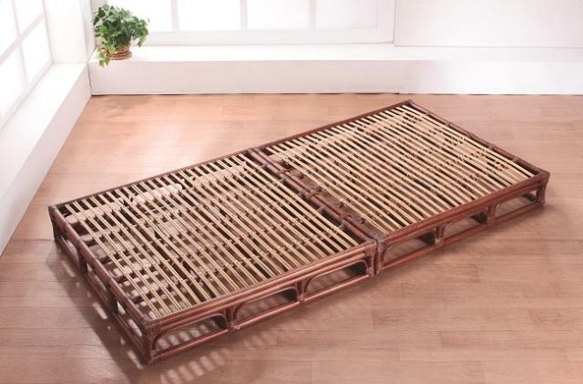 籐・ラタンのすのこベッド
