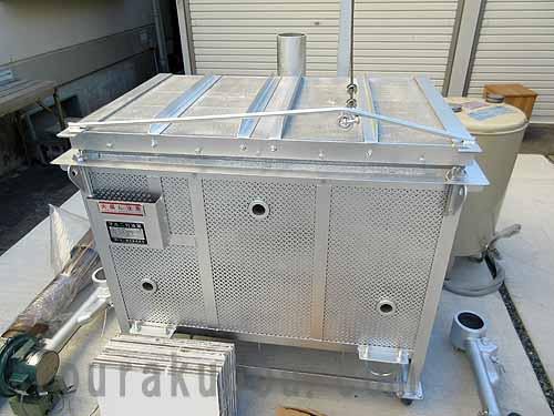 【中古】(マルニ)灯油窯 上蓋開閉式両方焚『OSA-02R』フルセット 2000年製