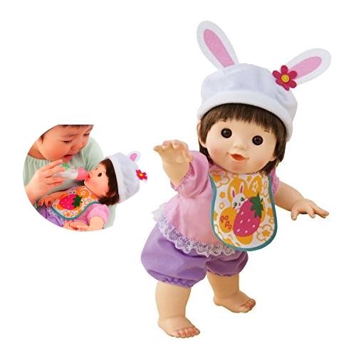 ぽぽちゃん お人形 やわらかお肌のよちよちぽぽちゃん 白うさぎファッション