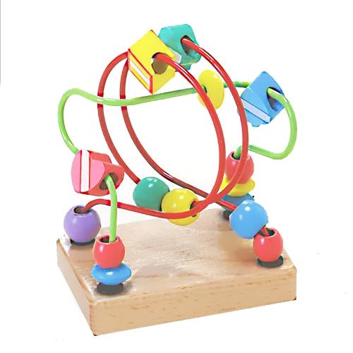 【おもちゃのジャンボ】 木のおもちゃ くねくねミニ (グリーン) ルーピング ビーズコースター 木製玩具 通販 販売