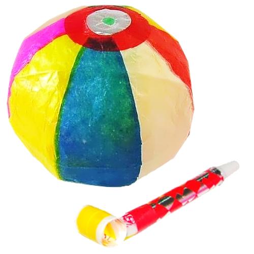 【おもちゃのジャンボ】 息をはく力や肺活量を鍛えて心肺機能を向上させよう! 紙風船 吹き戻し 介護 福祉玩具 通販 販売