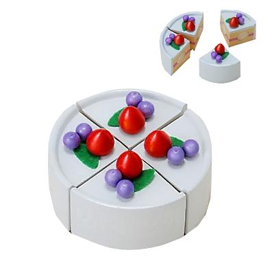 【おもちゃのジャンボ】 木のおもちゃ おままごと 食材 ケーキ (クリーム) ミニキッチン 拡張パーツ 木製玩具 通販 販売