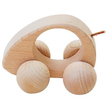 【おもちゃのジャンボ】 木のおもちゃ 赤ちゃんの木製玩具 ころころねずみ ファーズトトイ 通販 販売