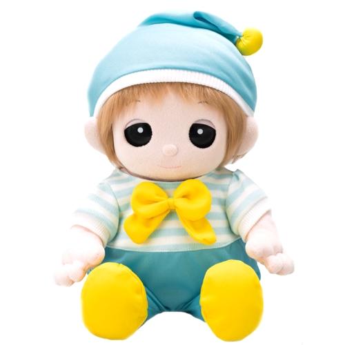 水色ロンパース 帽子付きをネルルに着せるとこんなふうに素敵になります。