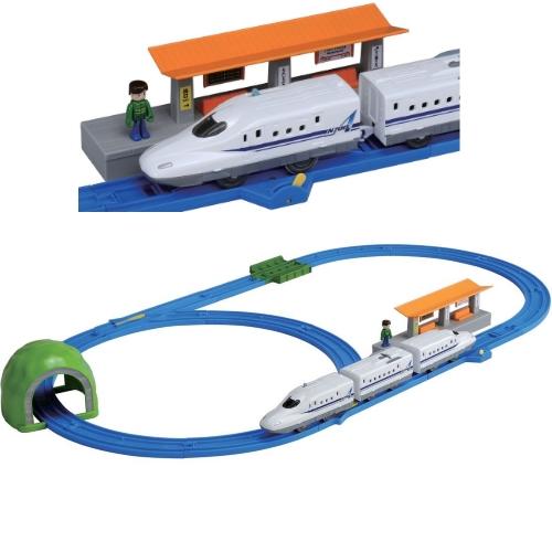 プラレール N700A 新幹線 ベーシックセット すぐに遊べる プラレール 列車 レール トンネル 駅 信号機入り 簡単レイアウトセット