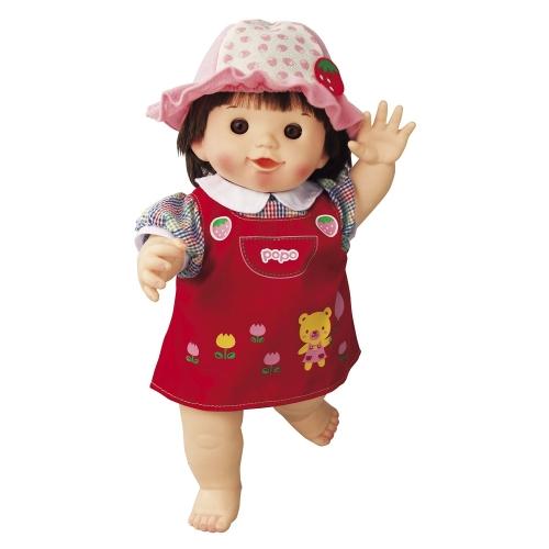 ぽぽちゃん お人形 やわらかお肌の女の子だもんぽぽちゃん くまさんジャンパースカート ポポちゃん おもちゃ 通販 販売