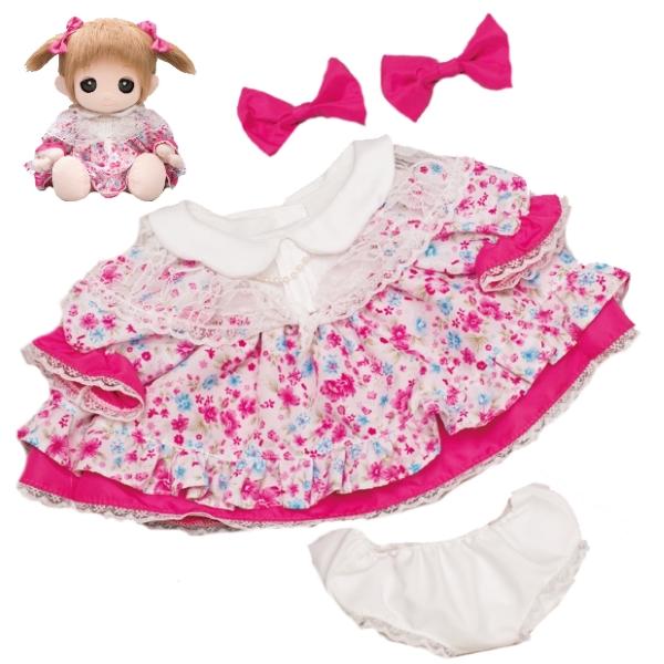【おもちゃのジャンボ】 ユメル ネルル ミルル 夢の子コレクション43 お花柄ワンピース リボン パンツ付き おしゃべり お洋服 通販 販売
